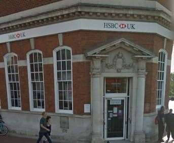 One of the attempted thefts happened at HSBC in Tonbridge High Street Picture: Google