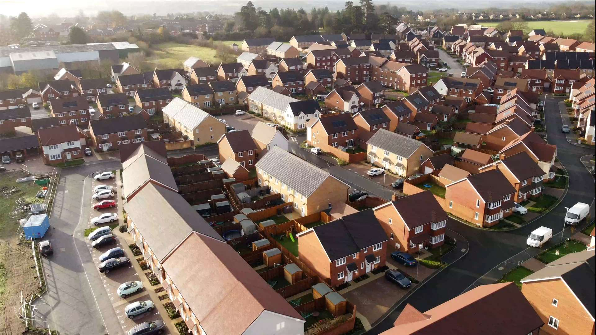 New homes in Barming near Maidstone. Picture: HawkEye Aerial Media