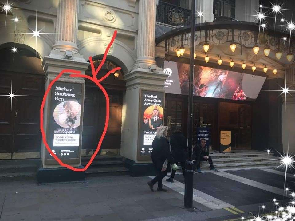 Ben's poster outside the London Palladium (8313009)