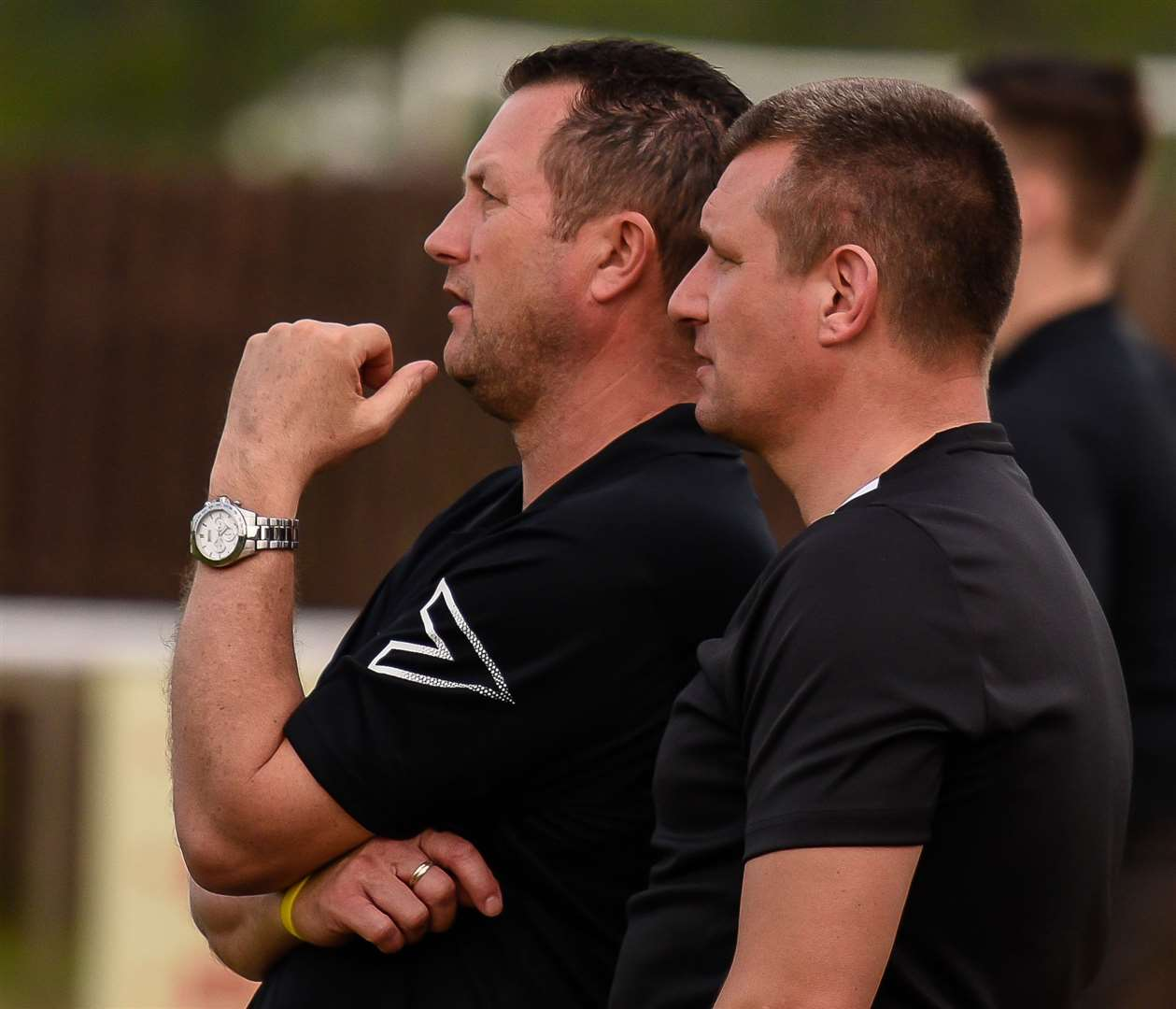 Faverham joint managers Phil Miles and Danny Chapman. Picture: Alan Langley