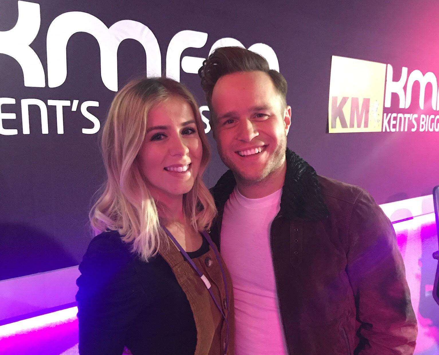 Olly Murs met kmfm Breakfast's Laura Crockett