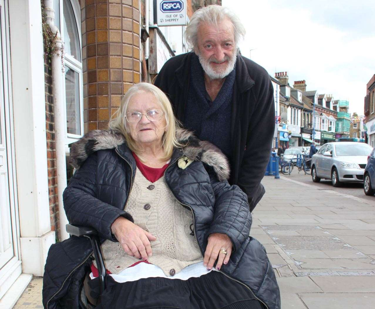 Homeless couple Thomas and Kathleen Vinall on the streets of Sheerness (9206614)