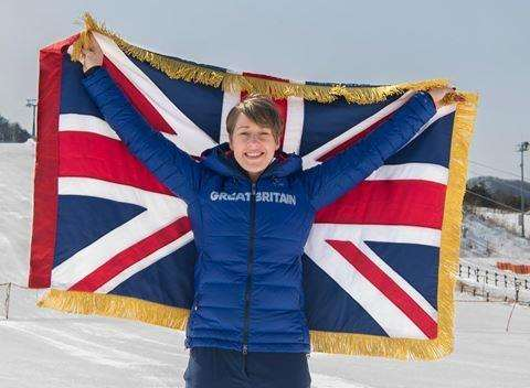 Kent's Lizzie Yarnold was Team GB's flag bearer at the Pyeongchang Winter Olympics