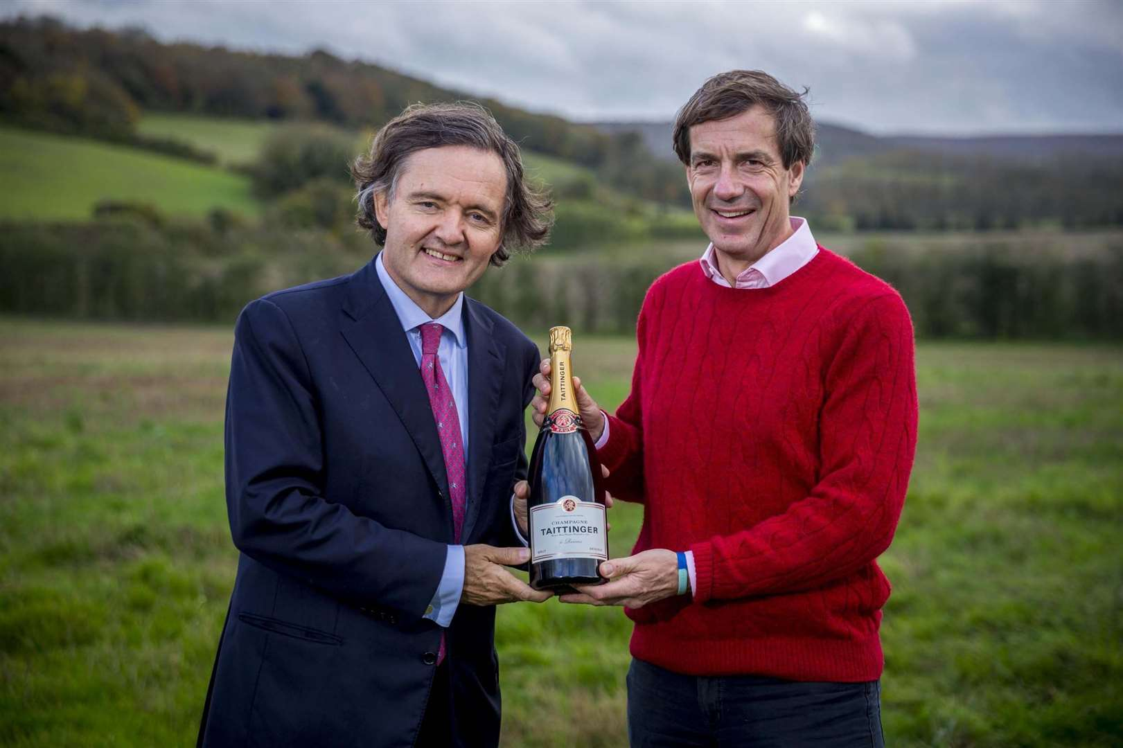 Pierre-Emmanuel Taittinger and Patrick McGrath are working in partnership to deliver the Domaine Évremond winery. Picture: Thomas Alexander