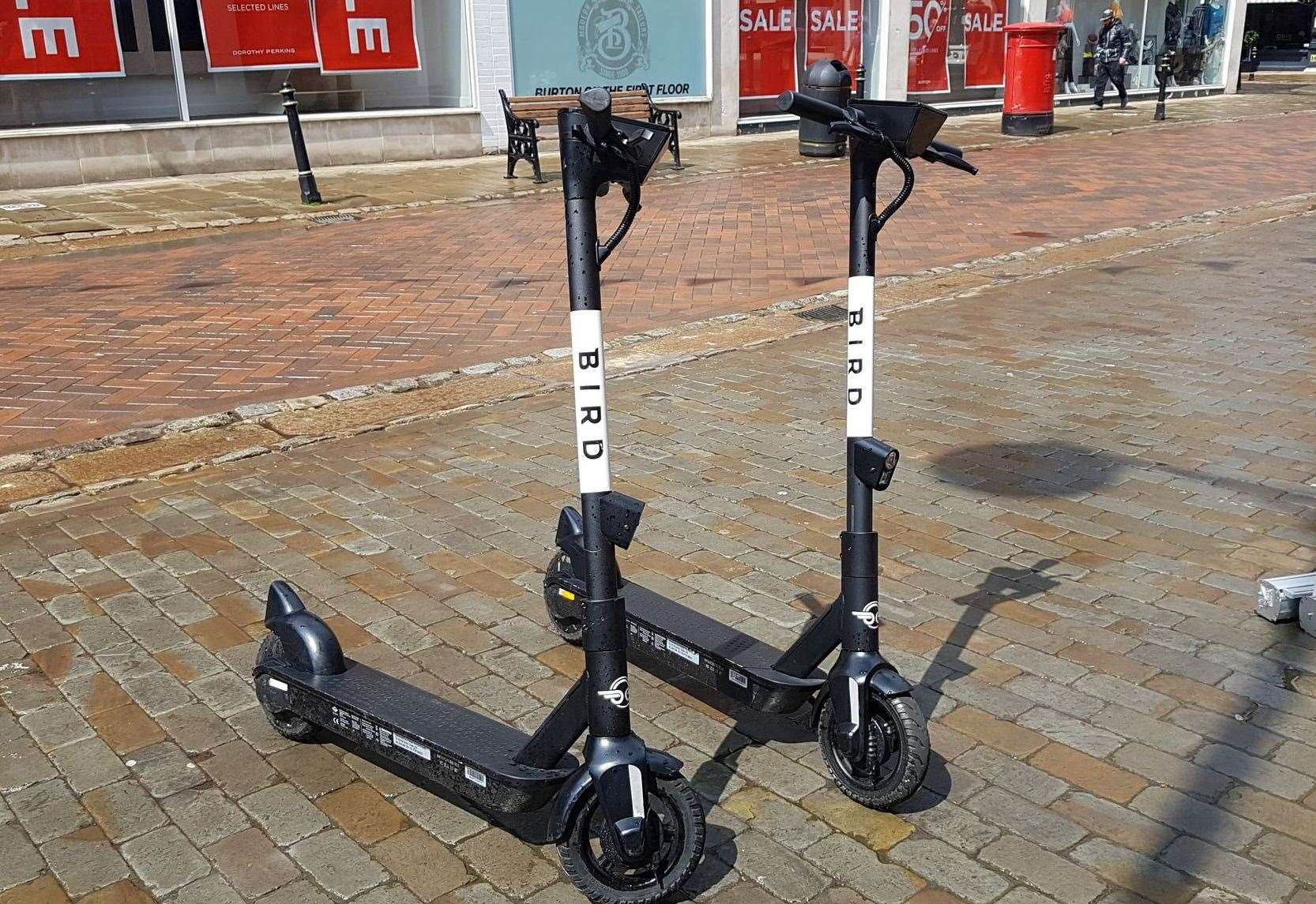 Electric scooters are available for hire in Canterbury as part of a government-backed trial