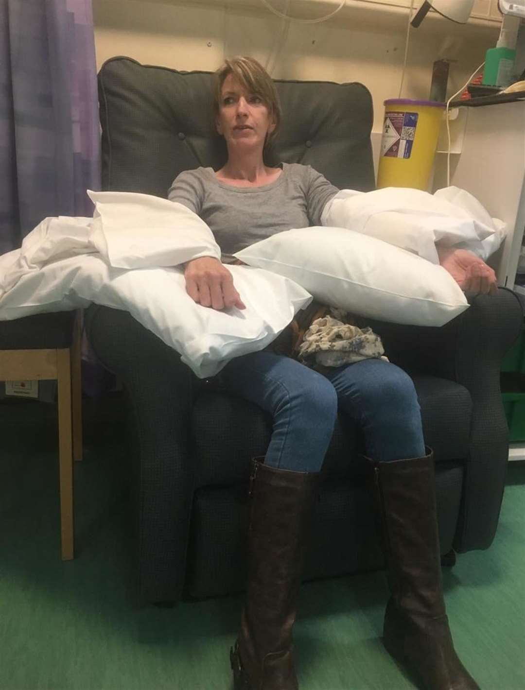 Janice says she suffered from aching bones, receding gums, nausea, dizziness and fatigue while she was on chemotherapy