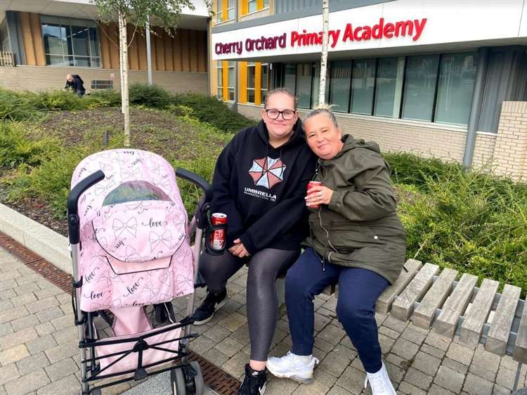School mums, Catherine Clarke and Claire Summers