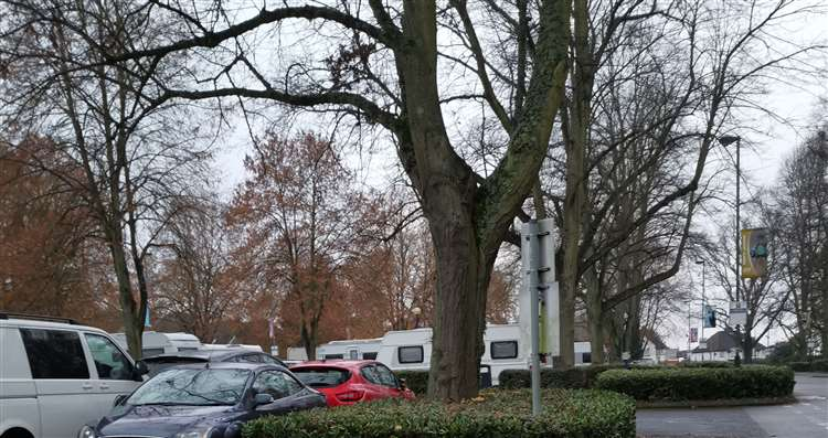 Travellers Arrive At Maidstone Leisure Centre Off West Park