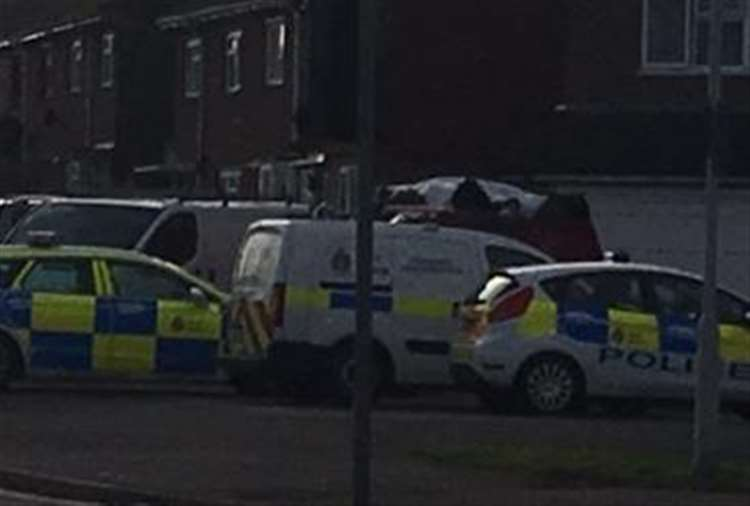 Police and forensics were called to the house yesterday
