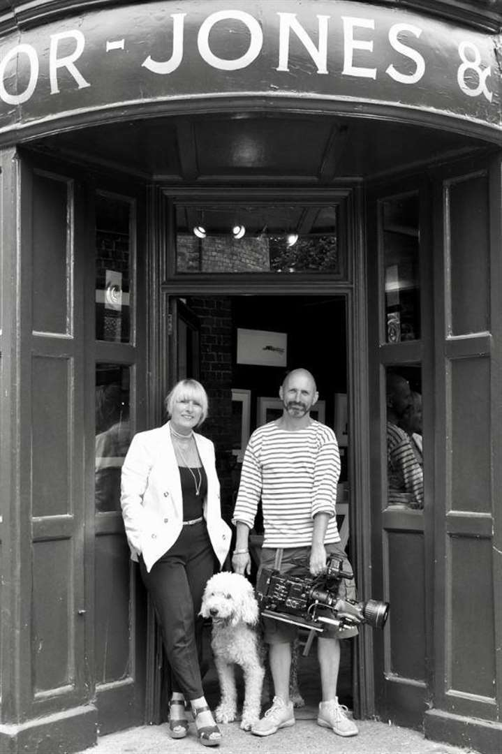Sonja and Richard Taylor Jones with Delilah outside their shop. Pictured for Anotjer Real Deal (2019) by Liz Mott (6736554)