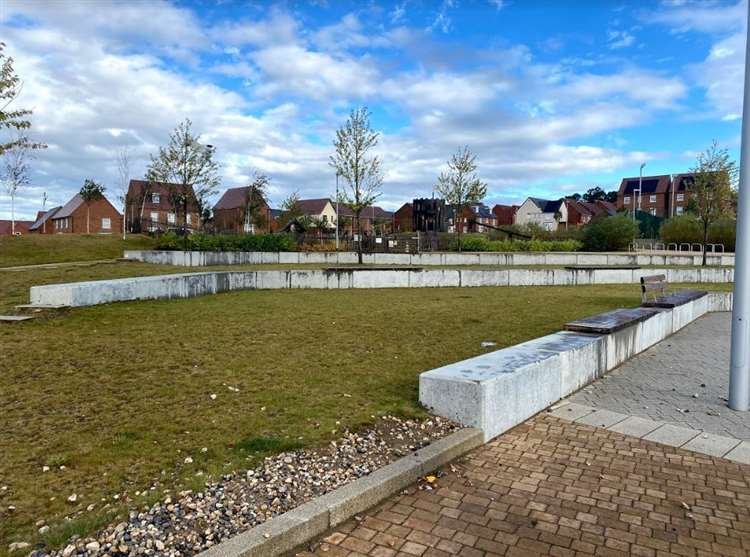 Green space on the Castle Hill estate