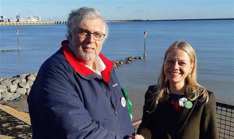 Green co-leader Sian Berry greets Cllr Eddy as a new member today