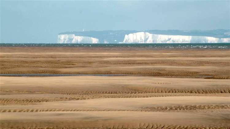 The Goodwin Sands. Picture: PSP and Rat Race Adventure Sports