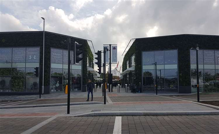 The completed outlet along Newtown Road in Ashford