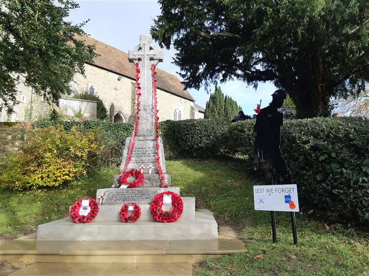 Wreaths laid at All Saints' Church, Birling on Sunday, November 11 (5329668)