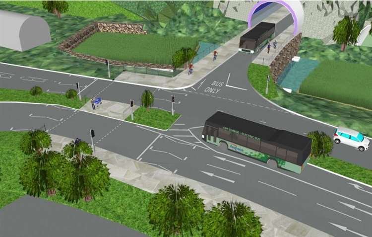 An artist's design of the western approach of the proposed tunnel. Picture: KCC (21994522)