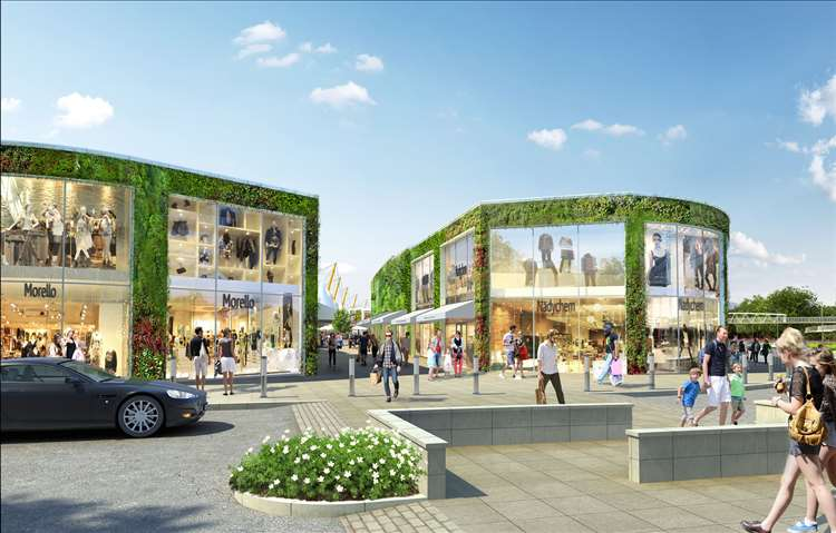 Artists impressions of the £90 million outlet expansion