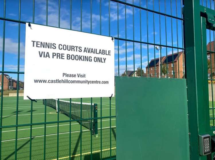 Tennis Courts on the Castle Hill estate