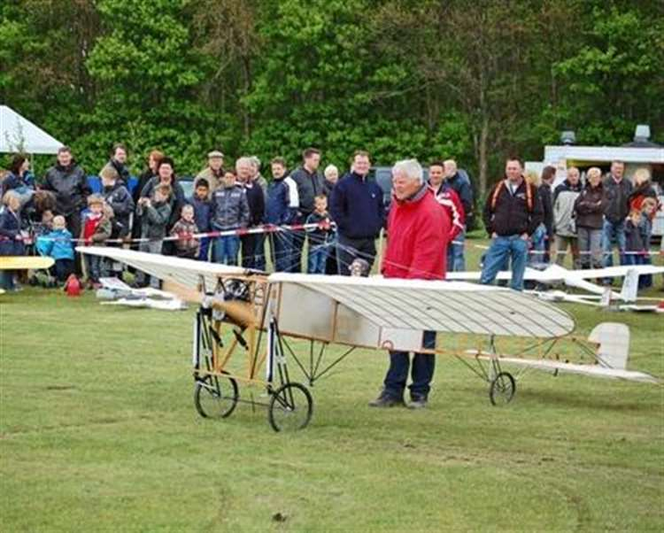 Model Bleriot Plane Crashes In The Channel