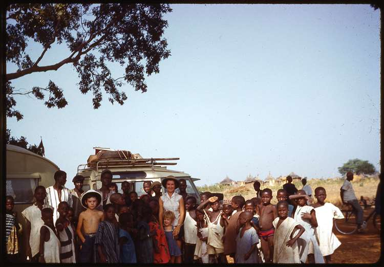 The family in Africa with their Land Rover. Photo: Red 5 Films