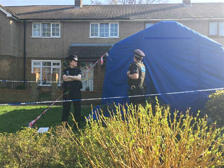 The house in Warren Wood Road was cordoned off by police