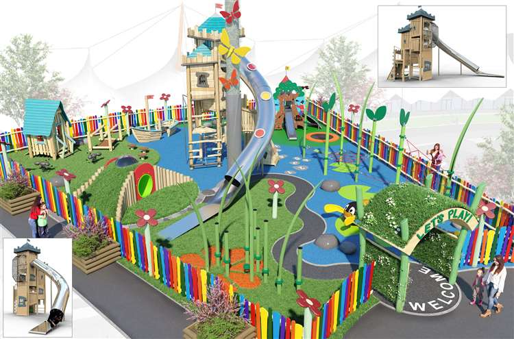 CGI of The Garden of England playground. Picture: McArthurGlen Designer Outlet