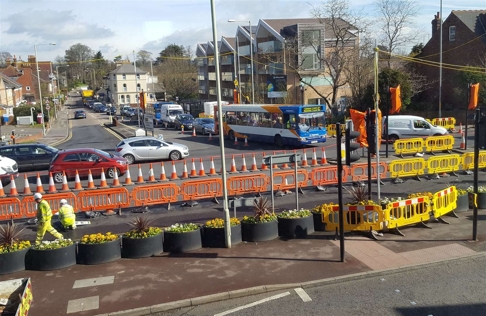 The roadworks in 2016 sparked delays in the town