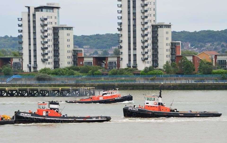GPS Marine boats operate on the Thames. Picture: Andrew Christy