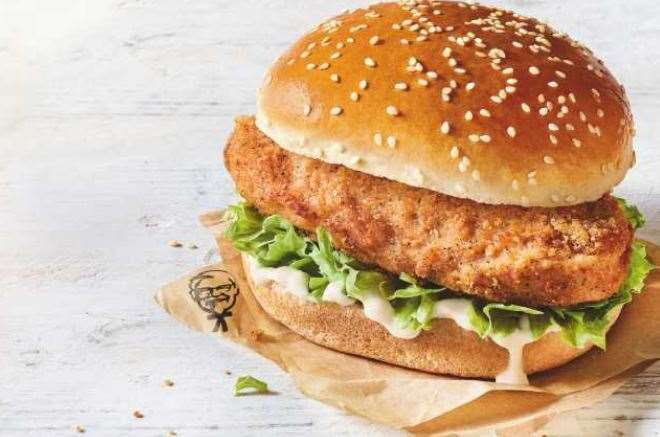 The original recipe vegan burger, KFC