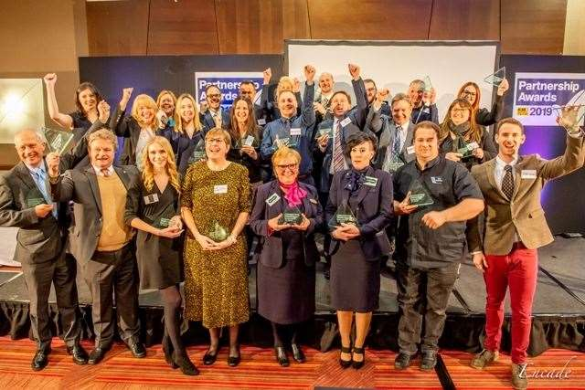 KM Charity Partnership Awards five-year, gold and platinum award winners