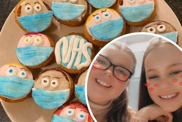 Samantha and Ellen raised money by completing challenges which included making cakes