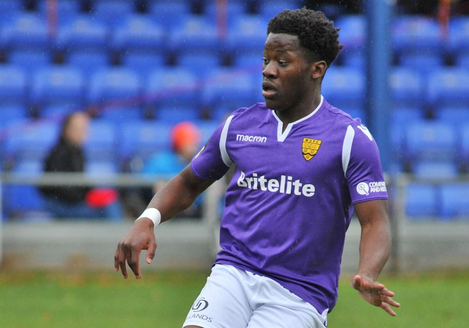 Former Maidstone United striker Norman Wabo has signed for Dartford Picture: Steve Terrell