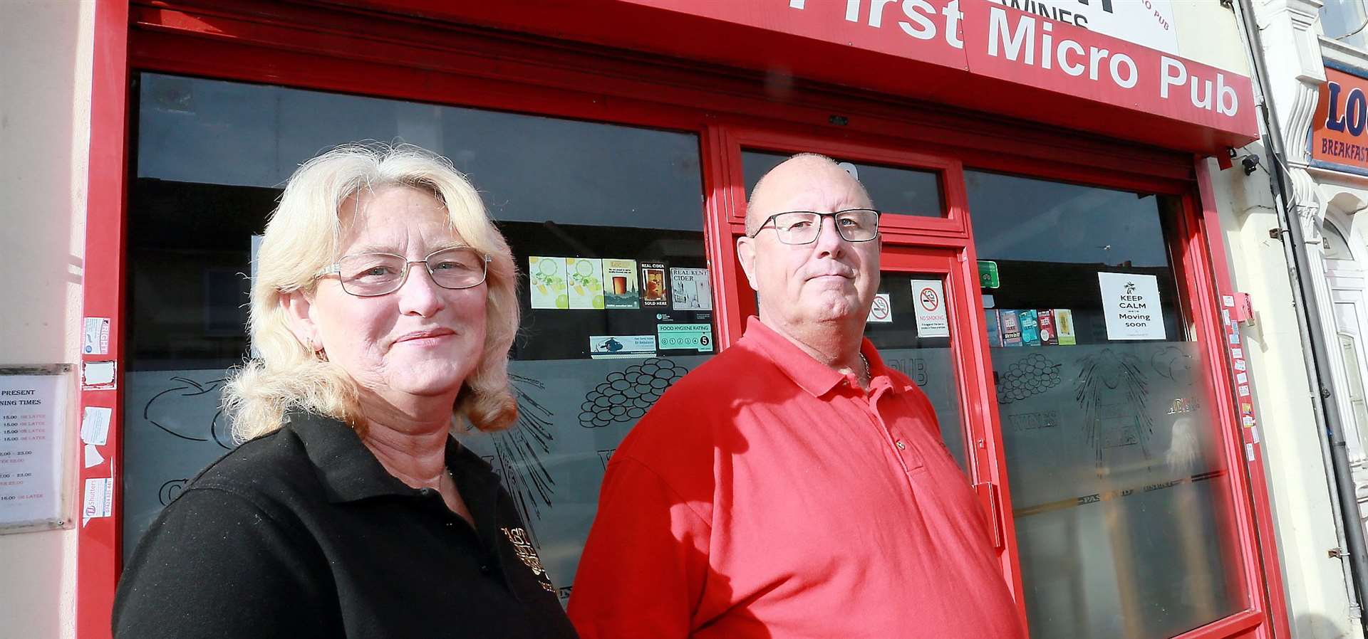 Dave and Lorraine Hallowell outside their previous premises for the Past and Present Picture: Phil Lee