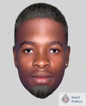 Police want to speak to this man after a woman was raped in Gillingham Park. Picture: Kent Police
