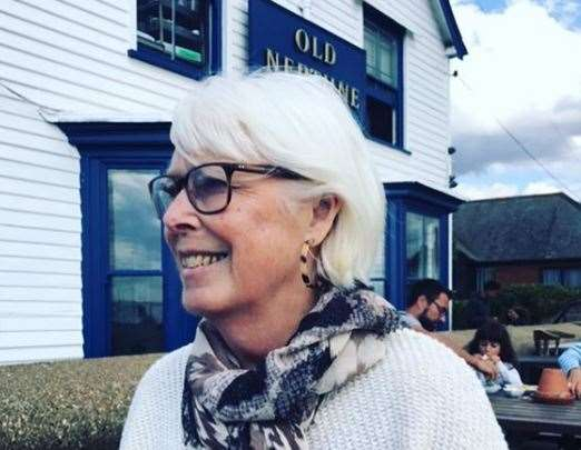 Kay Alexander outside the Old Neptune Pub in Whitstable. Picture: Lucy Alexander - Instagram