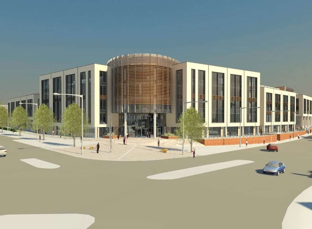 An artist's impression of the new Ashford town centre college