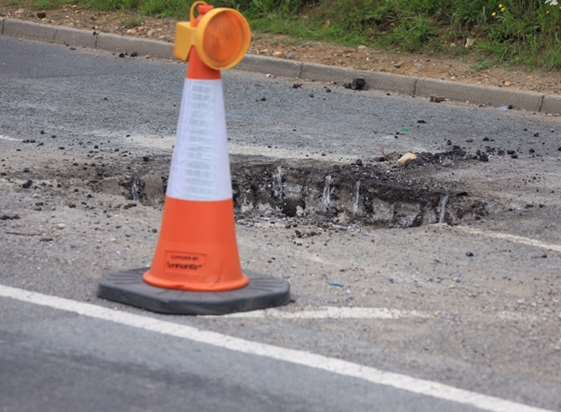 465 potholes have been filled since the awful weather
