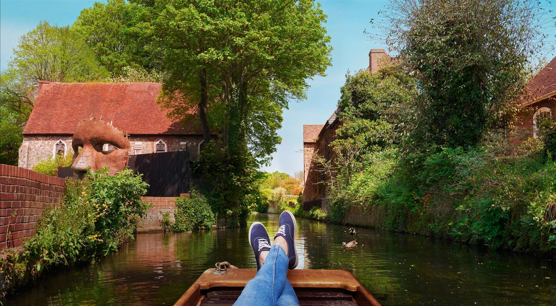 Canterbury punts pictured on a Visit Kent tourism poster - the city was the big draw once again