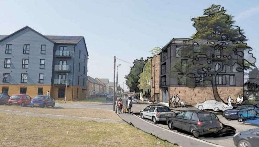 How the new apartments in Church Street, Milton Regis, on the site of the former Lion Inn could look