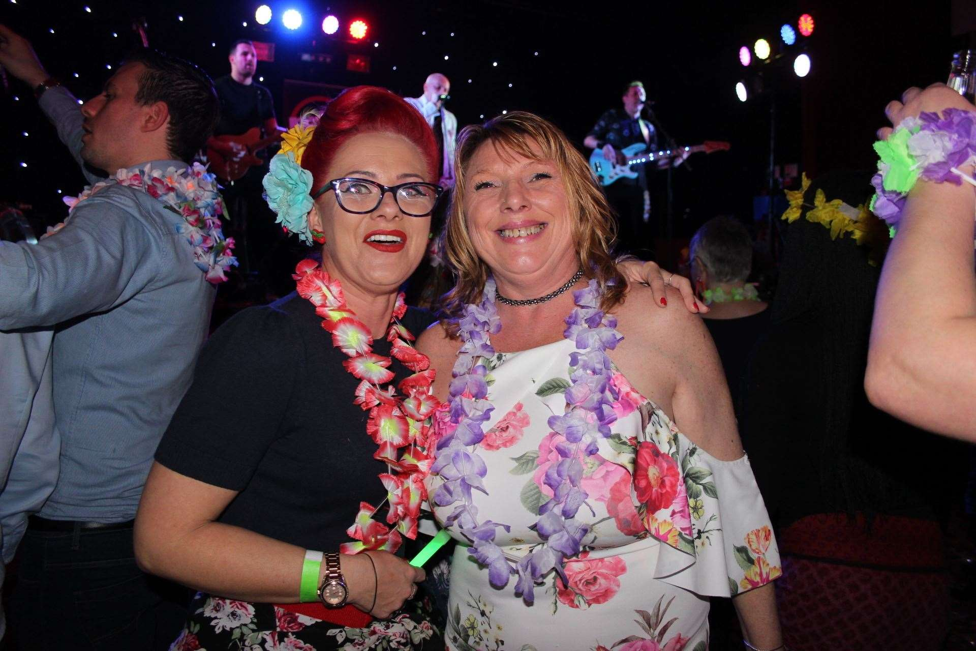 Fans Karen Ganderton and Tracy Topsom watching Marylebone Jelly at the Ka Hula Festival Sittingbourne (8161163)