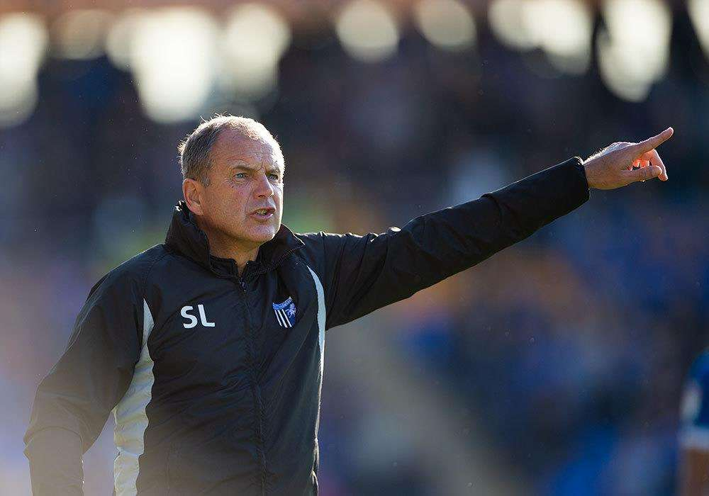 Gillingham boss Steve Lovell at Shrewsbury Picture: Ady Kerry (4483378)