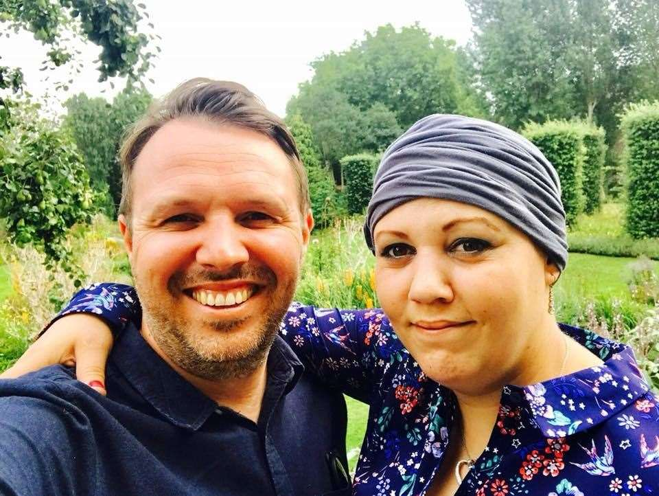 Gaz Jones with his late sister Hannah Rajabi who his hike pays tribute to