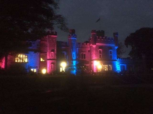 Whitstable Castle is lit up for Baby Loss Awareness Week