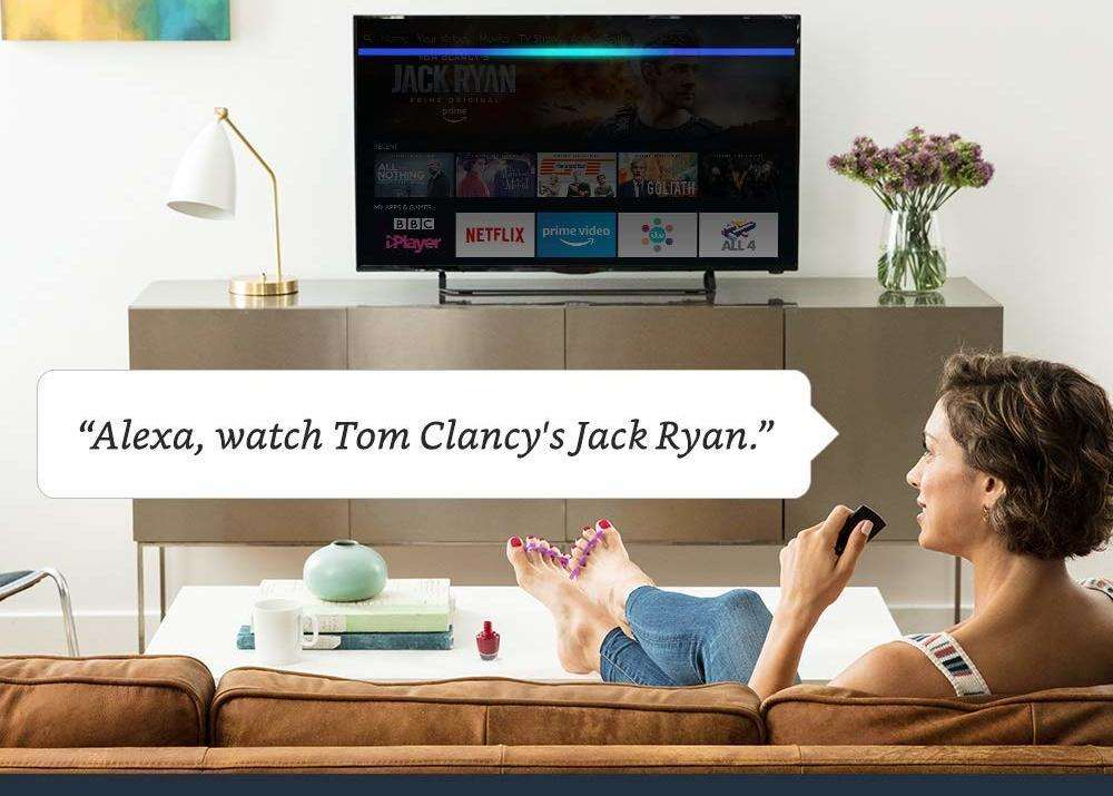 The latest Amazon Fire TV Stick 4K is accompanied with the voice-controlled Alexa virtual assistant built-in.