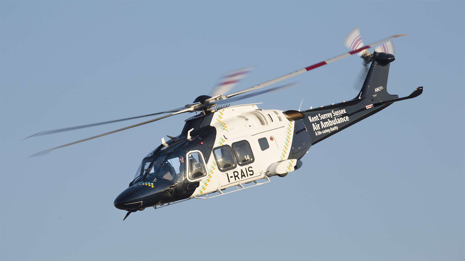 The air ambulance. Library picture courtesy of Kent, Surrey and Sussex Air Ambulance