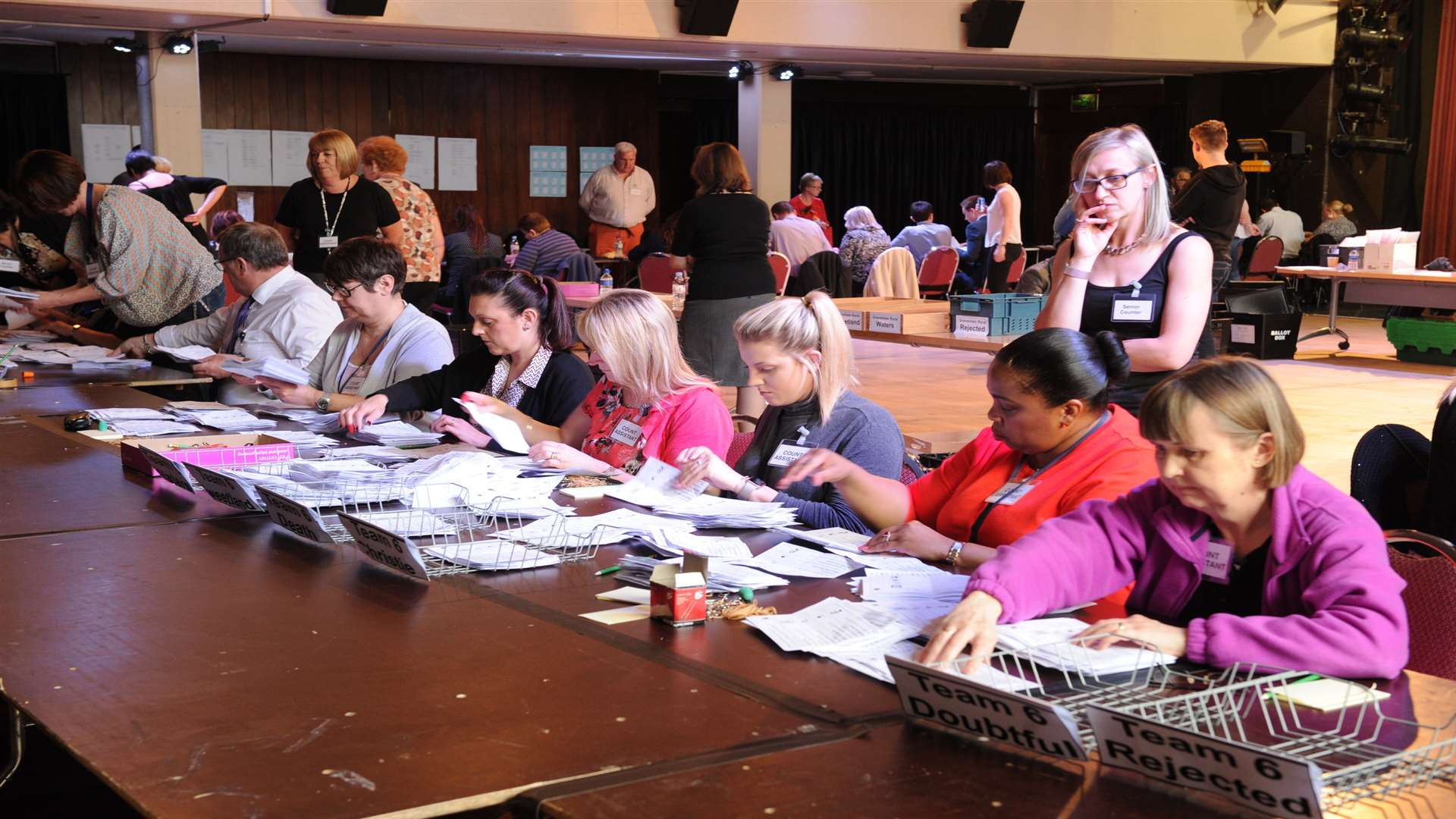 Election count under way at Gravesham Civic Centre