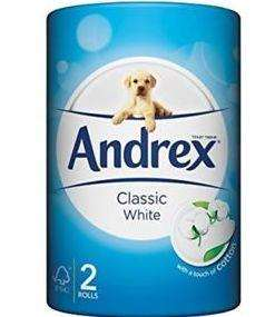 Andrex toilet roll has less rolls