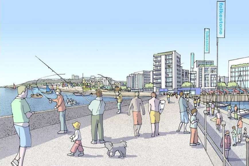 Artist's impression of how the new pier will look. Picture: Folkestone Harbour Company