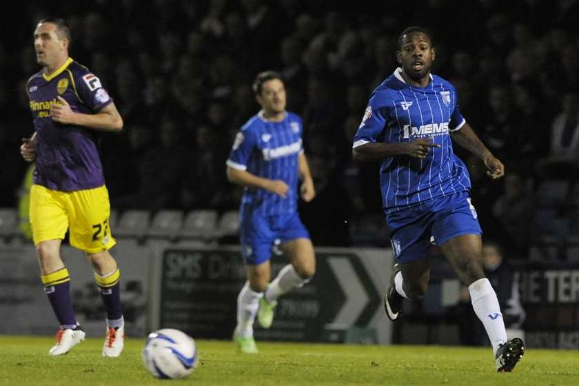 Myles Weston gives chase against Notts County (Pic: Barry Goodwin)
