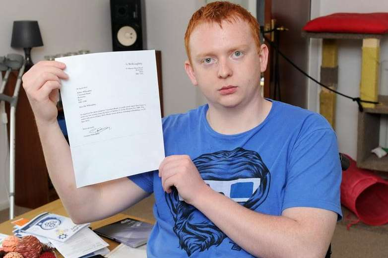 Ashley Willoughby is facing eviction from his home by his father because he cannot pay the rent